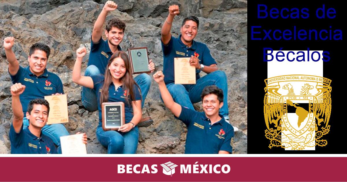 Becas de Excelencia Bécalos – UNAM Licenciatura