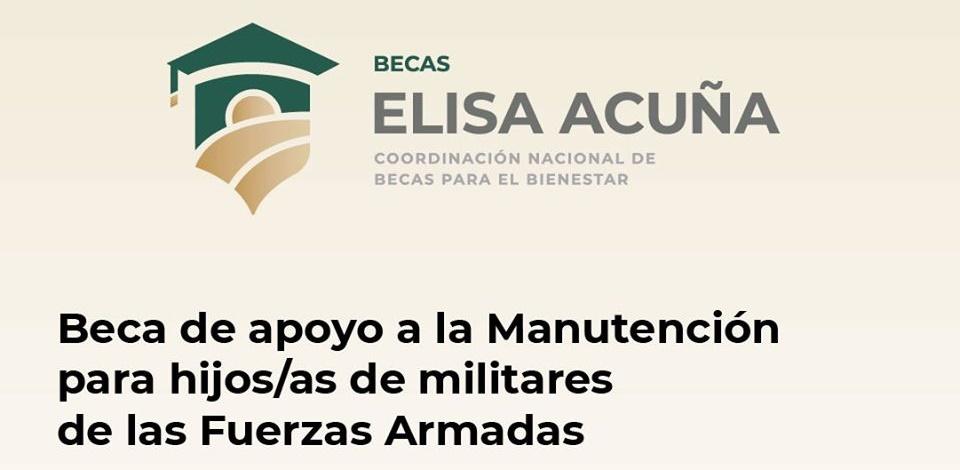 Beca de apoyo a la Manutención para hijos/as de militares de las Fuerzas Armadas