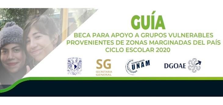 Beca de Apoyo a Grupos Vulnerables Provenientes de Zonas Marginadas del País 2020