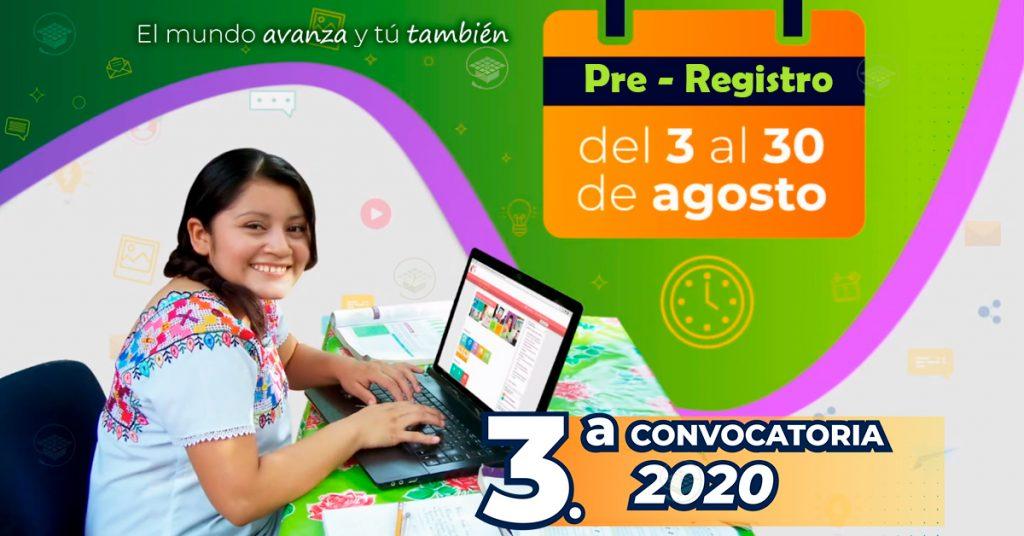 3ra Convocatoria de Prepa en Línea SEP 2020