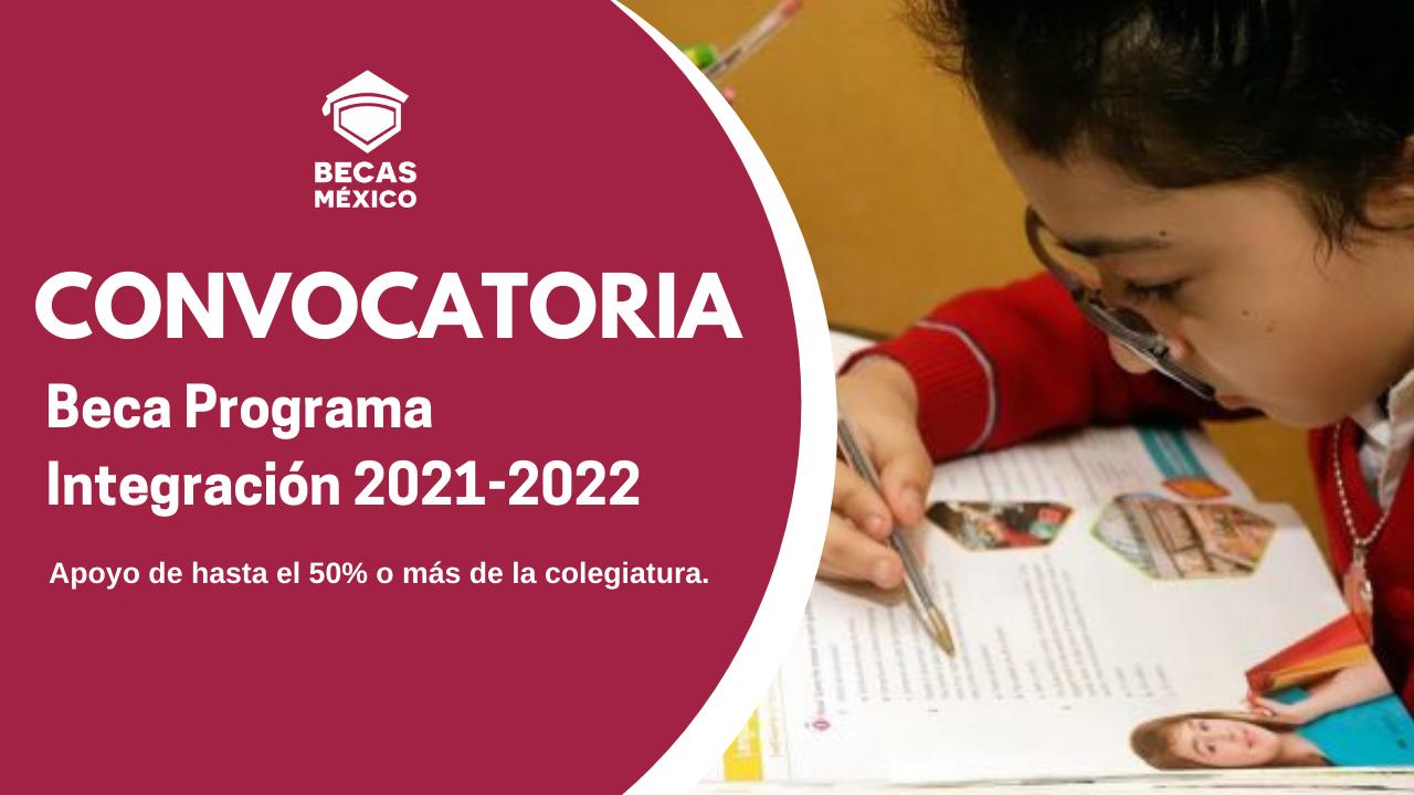 Beca Programa Integración 2021-2022